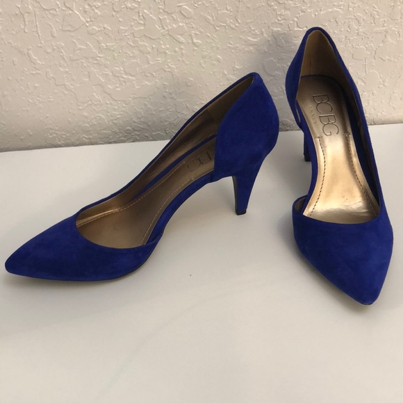 Royal Blue Mid Heel Shoes